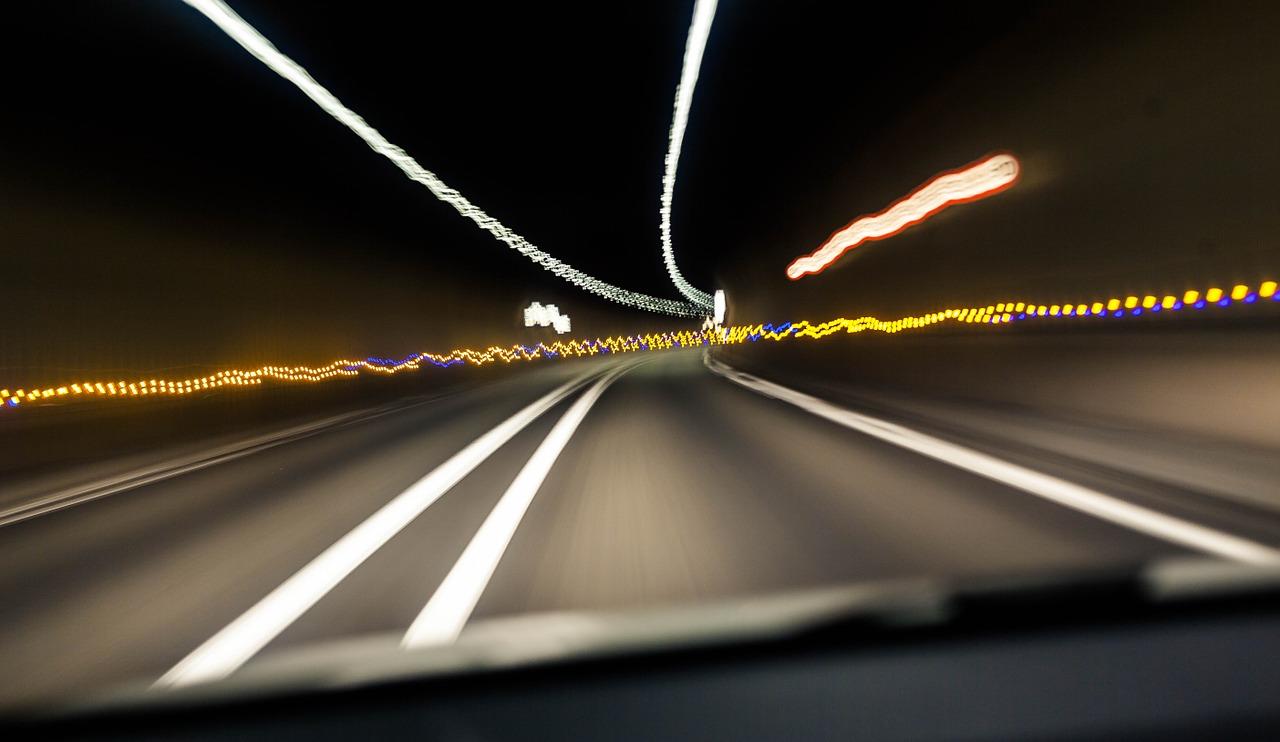Car night headlight poem metaphor